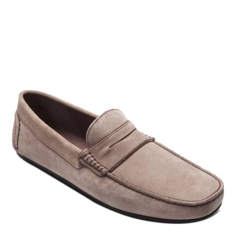 Ortiz & Reed Taupe Suede Sigurd Moccasins