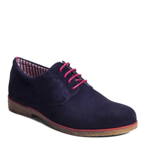 Ortiz & Reed Navy Suede Sky Oxford Shoes
