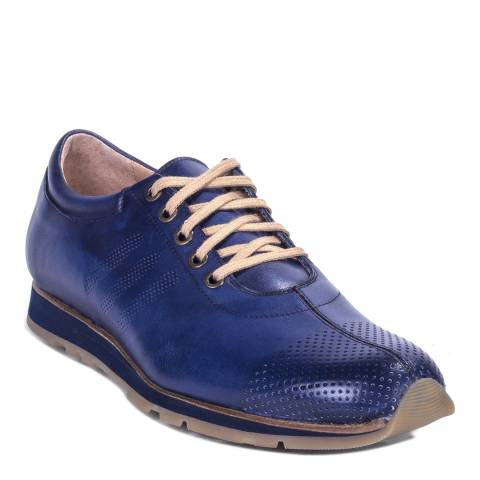 Ortiz & Reed Blue Metallic Leather Tagolf Trainers