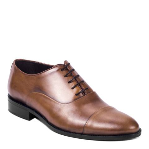 Ortiz & Reed Brown Leather Valentini Oxford Shoes