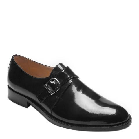Ortiz & Reed Black Patent Leather Abel Monkstrap Shoes