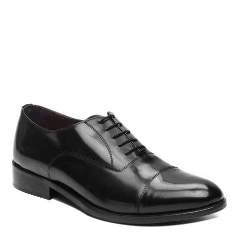 Ortiz & Reed Black Leather Ariko Toecap Oxford Shoes
