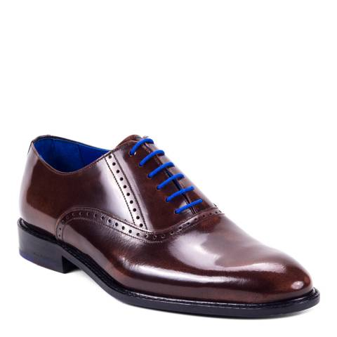 Ortiz & Reed Brown Patent Leather Aron Oxford Brogues