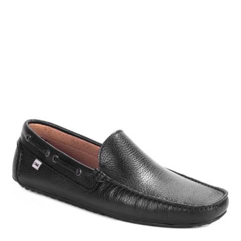 Ortiz & Reed Black Leather Boris Moccasins