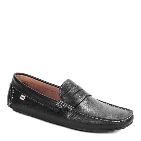 Ortiz & Reed Black Leather Burton Moccasins
