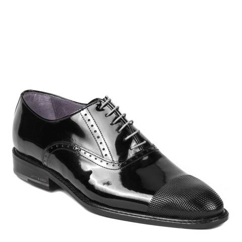 Ortiz & Reed Black Patent Leather Chaser Oxford Brogues