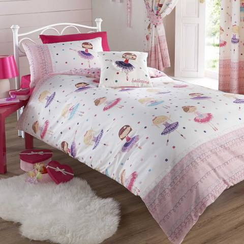 Kids Club Ballerina Quilted Throw