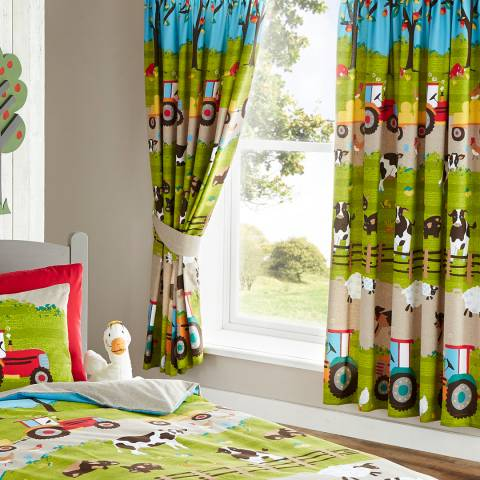 Kids Club Farmyard Pair of Curtains