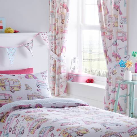 Kids Club Glamping 168x183cm Curtains