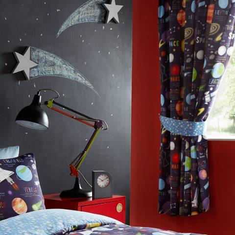 Kids Club Planets 168x183cm Curtains