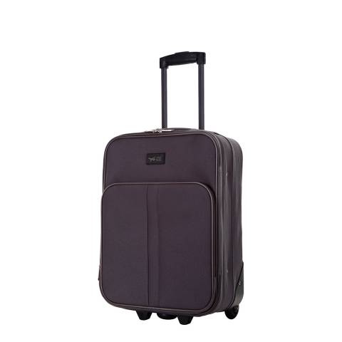 Travel One Dark Grey Amallia 2 Wheel Cabin Suitcase 48 cm