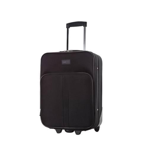 Cabine Size Black Amallia 2 Wheel Cabin Suitcase 48 cm