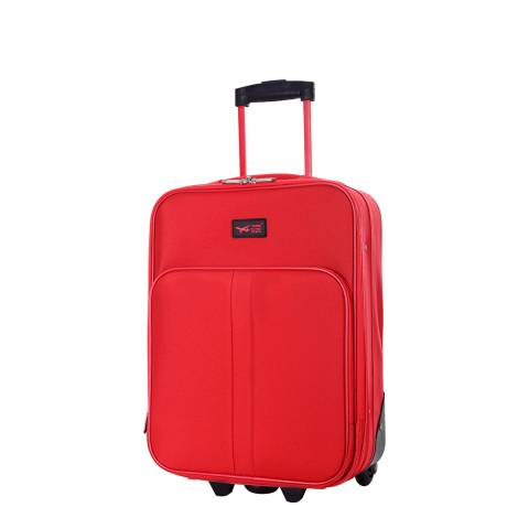 Cabine Size Red Amallia 2 Wheel Cabin Suitcase 48 cm
