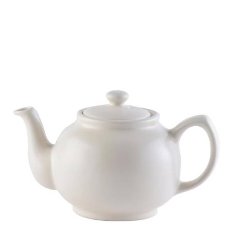 Price & Kensington Matt Cream Teapot, 6 Cup