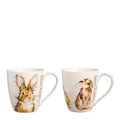 Price & Kensington Country Bunnies Set of 6 Assorted Mugs
