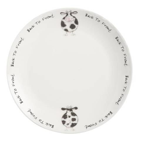 Price & Kensington Back To Front Set of 12 Dinner Plates, 26.5cm