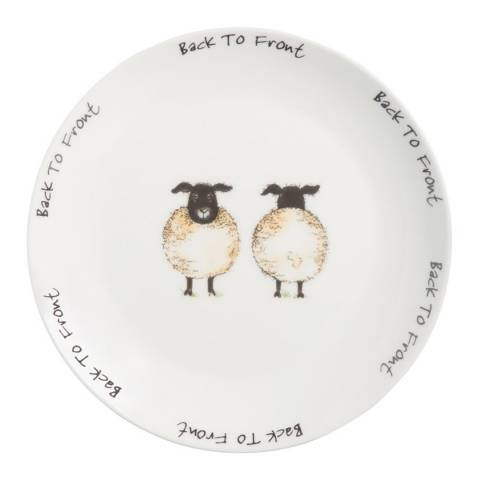 Price & Kensington Back To Front Set of 12 Side Plates, 19cm