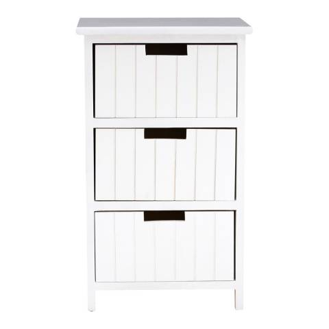 Premier Housewares New England 3 Drawer Chest, White