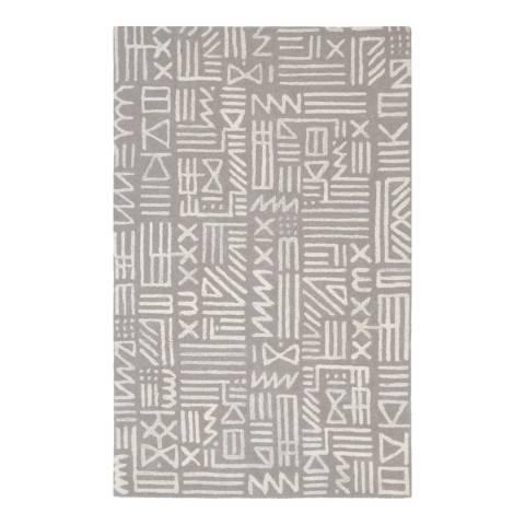 Rug Bazaar Grey/Ivory 152x244cm Rug