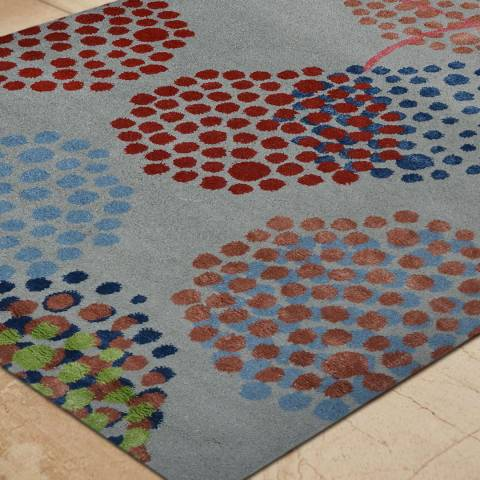 Rug Bazaar Grey Multi Coloured 152x244cm Rug