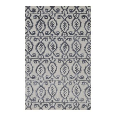 Rug Bazaar Grey/Black 152x244cm Rug