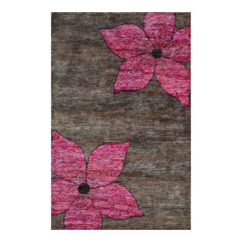 Rug Bazaar Brown/Pink 152x244cm Rug