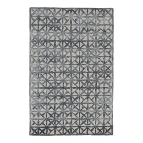 Rug Bazaar Grey Charcoal 152x244cm Rug