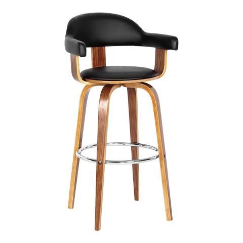 Premier Housewares Bar Chair, Walnut