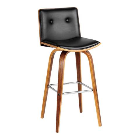 Premier Housewares Bar Chair, Walnut/Black