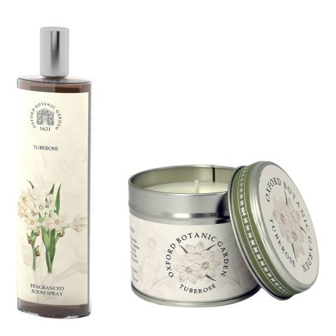 Oxford Botanic Garden Tuberose Room Spray & Tin Candle 200ml