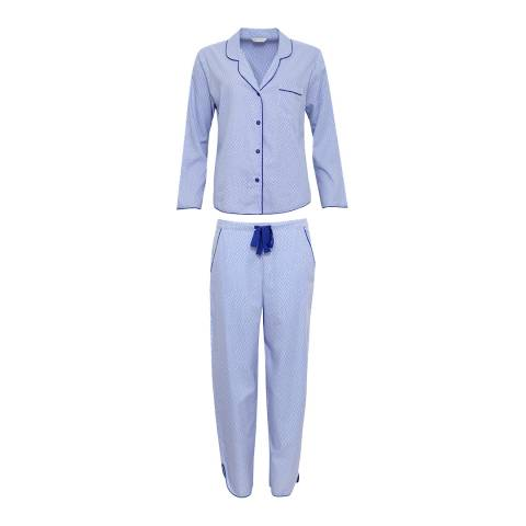 Cyberjammies Blue Spotted Vienna Woven Pajamas - Gift Set