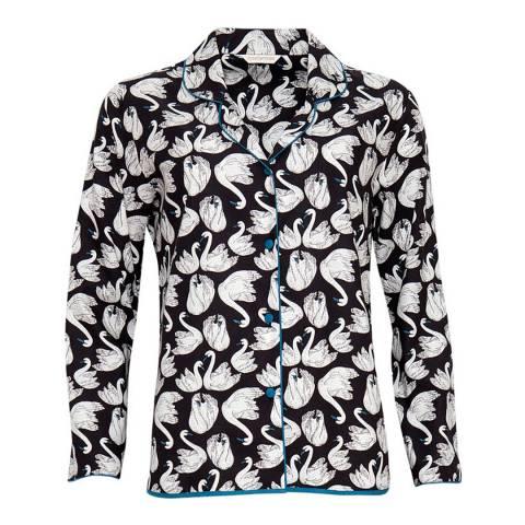 Cyberjammies Black/White Clara Long Sleeved Top Swan print