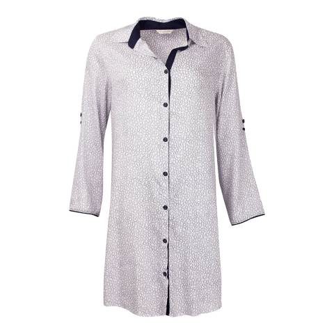 Cyberjammies White Tile Print Peony Delight Woven Nightshirt