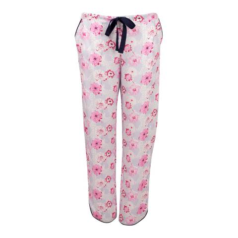 Cyberjammies White/Pink Peony Delight Woven Pants