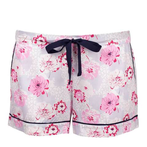 Cyberjammies White/Pink Peony Delight Woven Shorts Floral Print