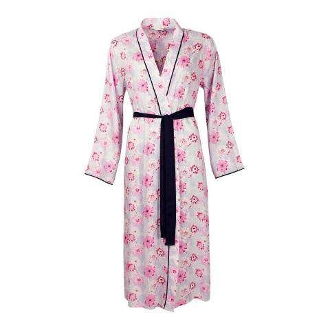Cyberjammies White/Pink Peony Delight Woven Wrap Floral Print