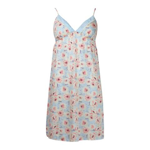 Cyberjammies Pastel Blue Woven Chemise Floral Print