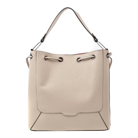 Renata Corsi Cream Leather Soft Shoulder Bag