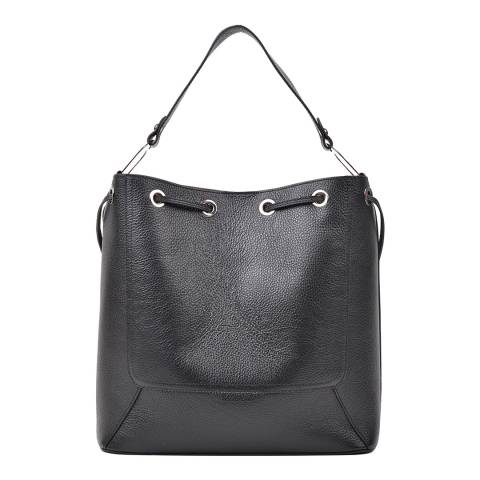 Renata Corsi Black Leather Soft Shoulder Bag