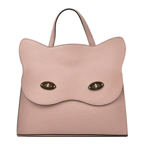 Renata Corsi Pink Leather Cat Top Handle Bag