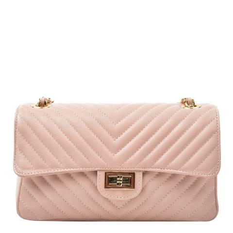 Renata Corsi Pink Leather Flap Over Shoulder Bag