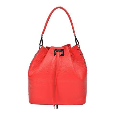 Renata Corsi Red Leather Top Handle Bag