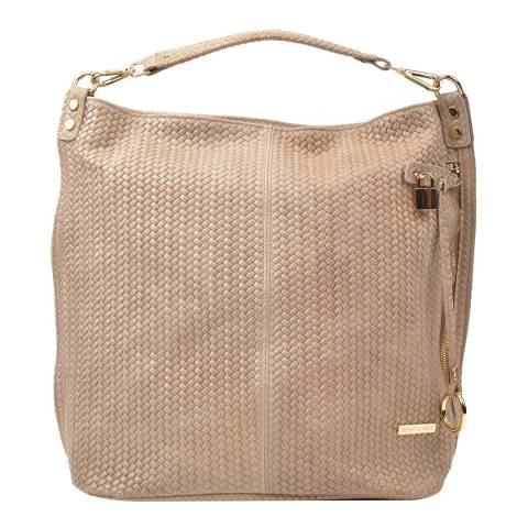 Renata Corsi Beige Leather Hobo Bag