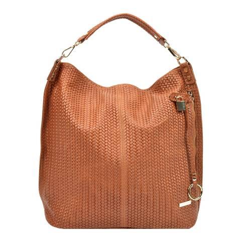 Renata Corsi Tan Leather Hobo Bag