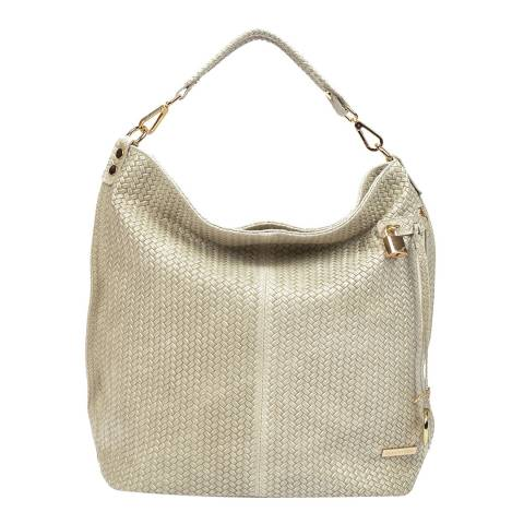 Renata Corsi Cream Leather Hobo Bag