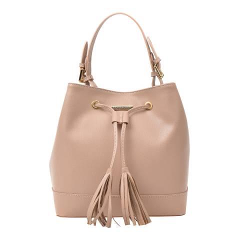 Renata Corsi Pink Leather Bucket Tote Handle Bag