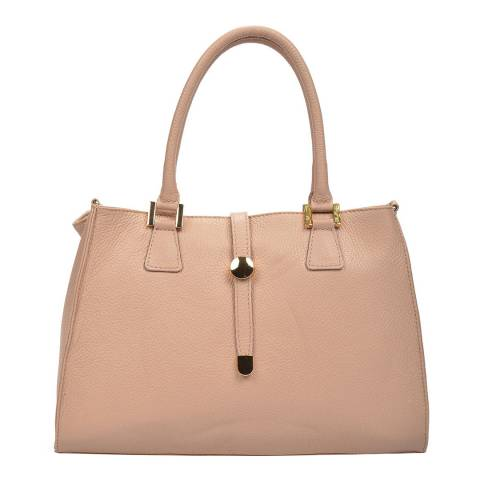 Renata Corsi Pink Leather Flap Over Tote Bag