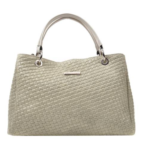 Renata Corsi Cream Leather Chain Tote Bag