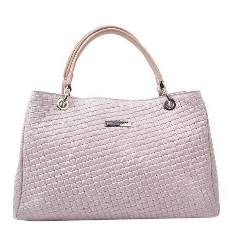 Renata Corsi Blush Leather Chain Tote Bag