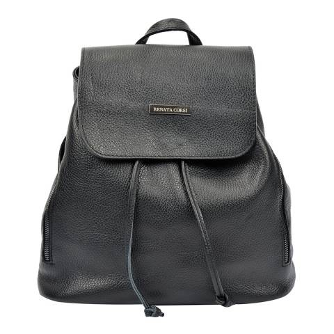 Renata Corsi Black Leather Backpack